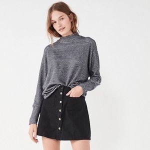 Urban Outfitters Blue Button Front A-Line Skirt